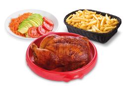 1 Pollo a la Brasa + Papas + Ensalada Familiar