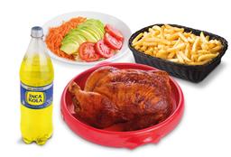 1 Pollo a la Brasa + Papas + Ensalada + Gaseosa