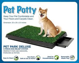 Pet Potty Baño Portátil Con Césped Artificial Perros Mediano