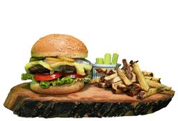 Combo hamburguesa y mojito