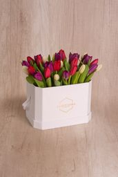 Love Box 30 Tulipanes