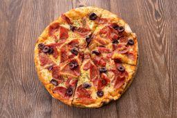 Pizza Familiar con 2 Cervezas