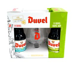 Pack Duvel Triple Hot Mix 2 Unds  X 33 Cc + Copa Oficial