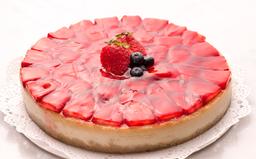 Cheesecake de Vainilla Horneado con Fresas Dec