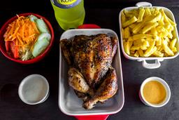 Pollo Entero + Papas + Ensalada + Gaseosa