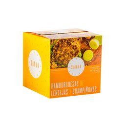 Hamburguesa Lentejas & Champiñones Sanua 600 g