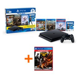 Combo: Ps4 Hw 1Tb Megapack 6 Bndl + Ps4 Infamous™ Second Son