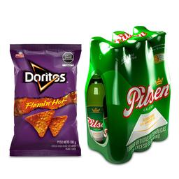Doritos Flamin Hot 100Gr + Pilsen Six Pack Bot.