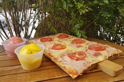Pizza + 2 Bolas de Helado