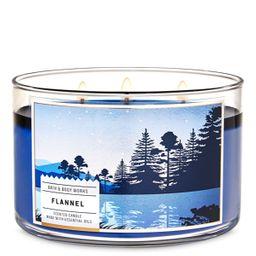 Vela 3 Mechas Flannel