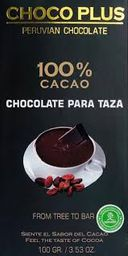 Chocolate para Taza 100% cacao 100gr Chocoplus