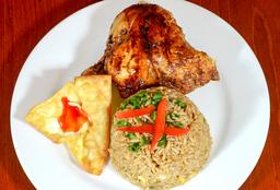 Arroz Chaufa Con 1/4 Pollo A La Brasa