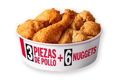 Chick'n Share 3 Piezas + 6 Nuggets
