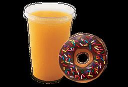 Donut Clásica y Jugo de Naranja