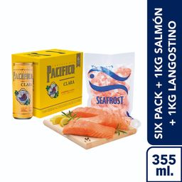 Pack Salmon + Lang+Cerveza Pacifico