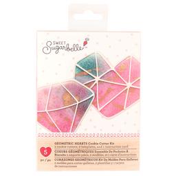 Kit de Moldes Para Galletas - Corazón Geometrico