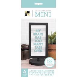 Mini Pizarra Con Letras Caja Aqua