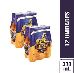 CRISTAL SIX PACK BOT 330ML 2X