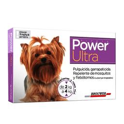 Power Ultra Antipulgas en Pipeta Para Perro Con Peso 2 a 4 Kg