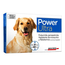 Power Ultra Antipulgas en Pipeta Para Perro Con Peso 21 a 40 Kg