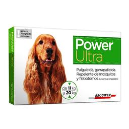 Power Ultra Antipulgas en Pipeta Para Perro Con Peso 11 a 20 Kg