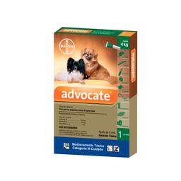 Advocate Antipulgas Para Perros de 0 a 4 Kg de 0.4 mL