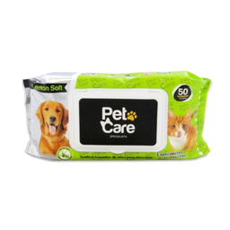 Pet Care Paño Húmedo Fragancia a Limón