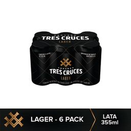 Tres Cruces 355 Ml Lata 6 Pack