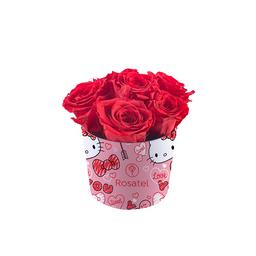 Sombrerera Con 6 Rosas Rojas Preservadas