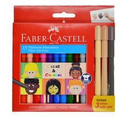 Faber Castell Plumón Fiesta 45 Caras y Colores