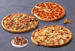 3 Pizzas Grandes y Adicional Gratis