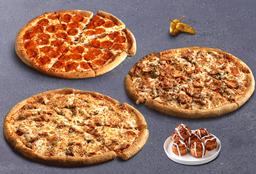 3 Pizzas Familiares y Adicional Gratis