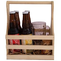 Canasta de Pino Beer Pack con Nombre Personalizado