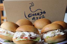 Sándwich de Pollo Granja Azul x6