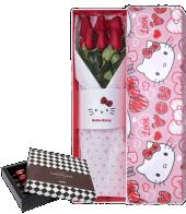 Caja 6 Rosa Roja Hello Kitty San Valentin 02
