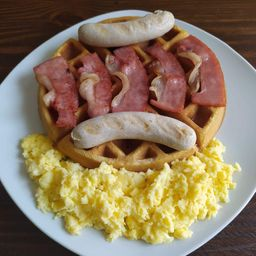Waffle Completo