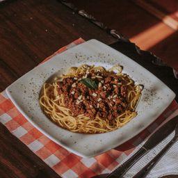 Tallarines a la Bolognesa Vegetariano