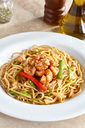 Pasta Lingüini Thai con Langostino