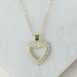 Collar Corazón Doble Borde Gold Nathalie Bird