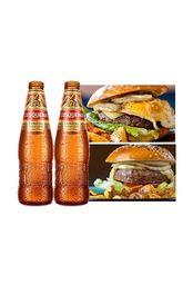 2 Hamburguesa + 2 cervezas Cuzqueñas