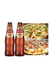 2 Pizzas a elegir + 2 Cusqueñas Doble Malta