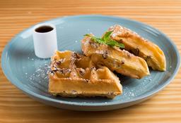 Waffles Pecanas