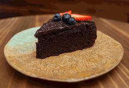 Torta de Chocolate Vegana + Iced Latte