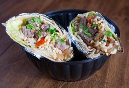 Burrito Lomo Saltado + Chicha