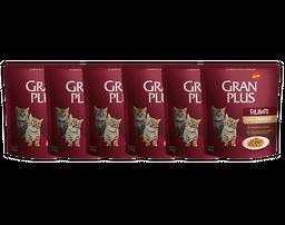 Gran Plus Alimento Para Gato Sabor Pollo Sachet 6 Und de 50 g