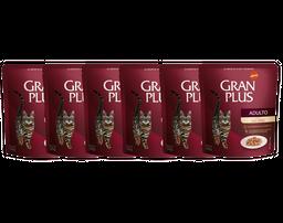 Gran Plus Alimento Para Gato Adulto Sabor Salmón Sachet 6 Und