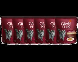 Gran Plus Alimento Para Gato Castrado Sabor Pollo Sachet 6 Und