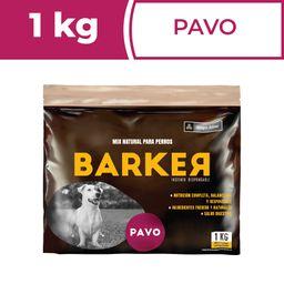 Barker Alimento Para Perro Barf Hamburguesas de Pavo 1 Kg