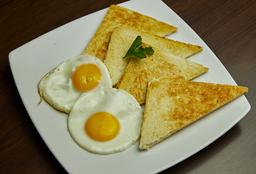 Dos Huevos Fritos con Tostadas