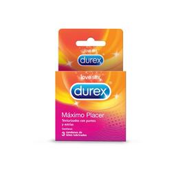 Durex Preservativo Máximo Placer x 3 und